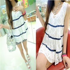 Clothes women's 2013 summer stripe patchwork lace casual loose shirt-inBlouses & Shirts from Apparel & Accessories on Aliexpress.com Cheap Clothes, Clothes For Women, Summer Stripes, Shirt Maker, Loose Shirts, Cover Up, Shirt Dress, Lace, Casual
