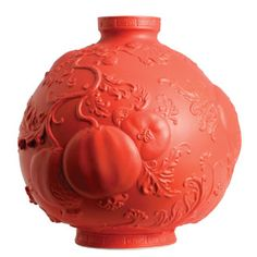 Jean Boggio Summer Garden Small Vase Red. Biggs Ltd. Gallery. Heirloom quality bridal, art and home decor. 1-800-362-0677. $433.