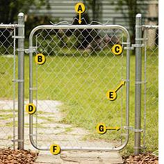chain link fence gate parts self locking assembling and hanging chainlink gate 110 best fences to mend gates images on pinterest in 2018