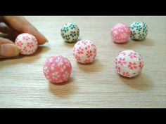 How to make a small ball Japanese traditional crafts Fun Crafts, Diy And Crafts, Diy Lace Ribbon Flowers, Diy Projects For Kids, Diy Stuff, Cool Stuff, Clay Jewelry, Quilling, Origami
