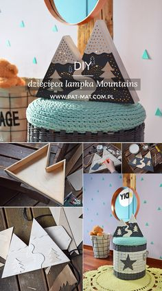 DIY lampka Mountains DIY kids Mountains lamp