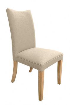 Jelak Fabric Natural Chair (Pair) by Sherman is The colours and fabric highlight the simple and attractive design of this well proportioned chair. The unmistakable style and opulent comfort that this chair provides make it a great all rounder. Cream Dining Chairs, Fabric Dining Chairs, Kitchen Chairs, Dining Chair Set, Dining Room, Cheap Bed Linen, Hardwood Furniture, Painted Chairs, Seat Pads
