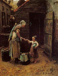 La vente du Lait, de Bernardus Johannes Blommers