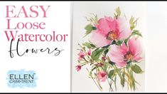 How to paint EASY Loose Watercolor Flowers under 10 Minutes!! Easy Watercolor, Watercolour Tutorials, Watercolor Flowers Tutorial, Flower Tutorial, Watercolor Paintings, Floral Paintings, Painting Tutorials, Watercolors, Art Projects