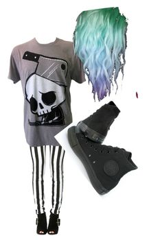 """""""Unknown #8"""" by kaylaisconfused ❤ liked on Polyvore featuring Converse"""