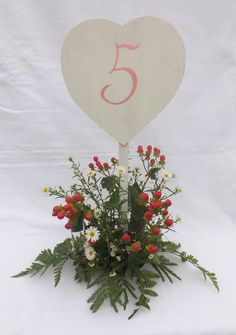 Table number, simply push into the table flowers