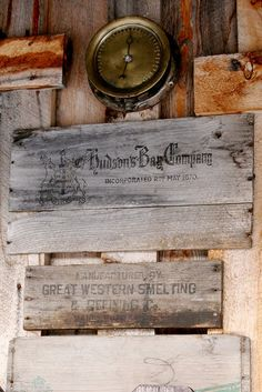 Hudsons Bay Company Found at Border Town Garage & Museum. Beaver Creek, Yukon, Canada  Open to Public. All Summer