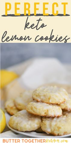 These thick and soft keto lemon cookies are simply the best keto cookie recipe that you can make! Everyone will love these cookies because they are so soft and have amazing lemon flavor! It is amazing these cookies are low carb, sugar free, and keto friendly.  #keto #ketorecipes #recipes #desserts #lemon #cookies #healthy #healthyrecipes #ketodesserts #sugarfree Ketogenic Desserts, Low Carb Desserts, Keto Snacks, Low Carb Recipes, Dessert Recipes, Cooking Recipes, Lemon Cookies, Candida Recipes, Low Carb Keto