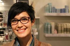 Short hair works great with glasses, especially these fun frames from @Rivet & Sway www.cablecarcouture.com