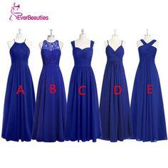 Royal Blue Long Bridesmaid Dresses Pleated Chiffon Alibaba China Plus Size Vestido Longo De Festa African Bridesmaid Dresses