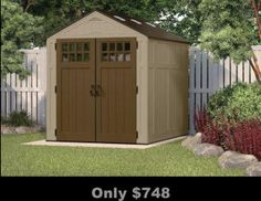 sheds, poly sheds, FREE shipping, no interest financing, no sales tax some states, assembly available, outdoor, home, ADD to cart for DEALS and like products