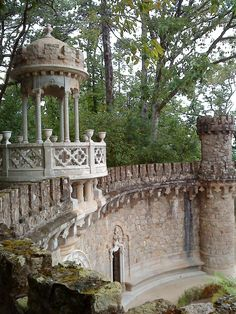 Magnificent and mistic Palace and Gardens of Quinta da Regaleira, Sintra, Portugal