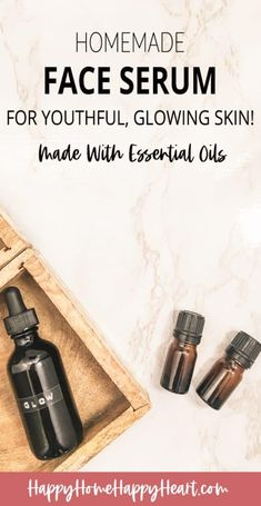 DIY Face Serum for Glowing Skin Make your own diy face serum with essential oils. This diy glow serum is amazing! It will reduce fine lines & wrinkles and make your skin look amazing. It's my favorite homemade anti-aging serum. Aloe Vera, Anti Aging Cream, Anti Aging Skin Care, Face Serum Diy, Facial Serum, Facial Cleansers, Facial Masks, Young Living, Vitamin E