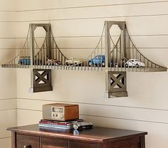 Bridge Shelf #pbkids- How can we make this? I need a knock-off!