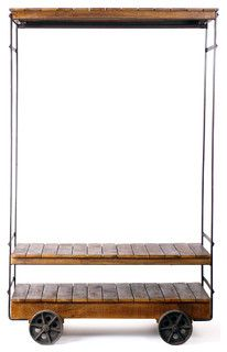 Almira Rolling Garment Rack - industrial - clothes racks - los angeles - by CRASH Industrial Supply