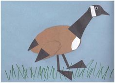 Canada Goose Crafts for your Canada Theme Day or for Canada Day Animal Crafts For Kids, Toddler Crafts, Animals For Kids, Goose Craft, Canada Day Crafts, Animals That Hibernate, Canadian Animals, Birds For Kids, Daycare Crafts