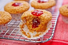 Mini Almond Butter and Strawberry Muffins
