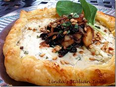 Ricotta and Goat Cheese Crostata with Onion, Apple, Cherry Relish