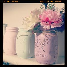 Mason jar vase in lavender for our competition winner  #stellaandme