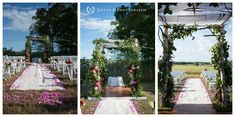 Outdoor Jewish Wedding Ceremony in New England.Flowers by the team at Toni Chandler Flowers & Events Jewish Wedding Ceremony, Tent Wedding, Chuppah, Rustic Charm, Newport, New England, Seaside, Florals, Events