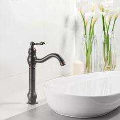 DFI Single Hole Lever Vessel Sink Bathroom Faucet with Drain Assembly & Reviews | Wayfair Vessel Faucets, Vessel Sink Bathroom, Widespread Bathroom Faucet, Bathroom Faucets, Glass Vessel, Waterfall Faucet, Wall Mount Faucet, Faucet Handles, White Ceramics