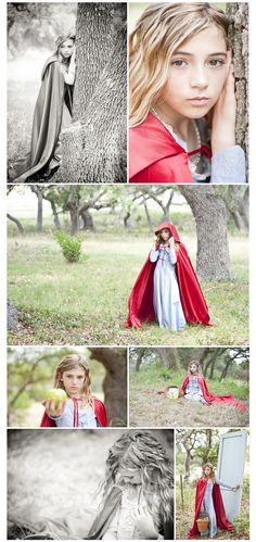 Little Red Riding Hood stylized session photographed by Michelle Hires from an i Heart Faces photography workshop in San Antionio, TX Face Photography, Conceptual Photography, Autumn Photography, Photography Workshops, Children Photography, Family Photography, Little Red Hood, Teen Photo Shoots, Fun Family Photos