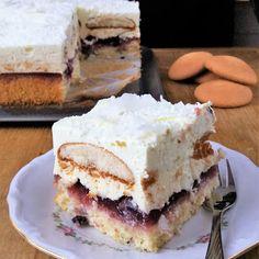 Ciasto Bajeczne / 'Fairytale' Layer Cake | Lekcje w kuchni Cheesecake, Cherry, Layers, Layering, Cheesecakes, Prunus, Cherry Cheesecake Shooters