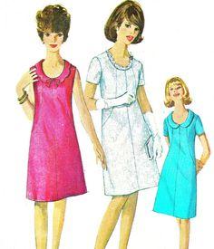 1960s Dress Pattern Simplicity 6440 Mod Scoop Neck by paneenjerez, $12.00