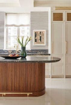 Cocina Art Deco, Art Deco Kitchen, Kitchen Modern, Gold Kitchen, Minimalistic Kitchen, Modern Kitchen Interiors, Mid Century Modern Kitchen, Kitchen Black, Interior Design Portfolios
