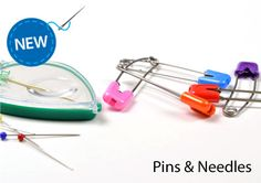 New Dritz #sewing notions: #pins and #needles. Petite magnetic needle case is perfect for on the go - has threader and magnifier, too! Baby Diaper Pins are curved and cute (great colors!). On the Dritz make something blog. #sewing #quilting #making #DIY