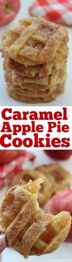 Caramel Tarte aux pommes Cookies   Cuire un Bite