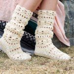 Coachella Boots – Free Crochet Shoe Pattern with Flip Flop Soles