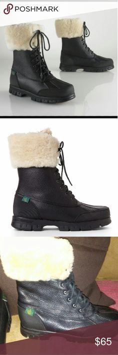 Lauren Ralph Lauren Polo fur boots Black polo boots with fur Ralph Lauren Shoes Winter & Rain Boots