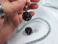 Bead Woven Swarovski Crystal Earrings by mediterraneangirl on Etsy, $25.90