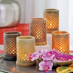 Teelichthalter Brighter Home - keiner wie der andere, von Hand gefertigt aus Speckstein, dadurch jeder ein einzigartiges Unikat... im März 2015 als HighLite zum Sonderpreis erhältlich!