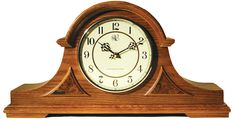 Traditional Chiming Mantel Clock in Medium Oak