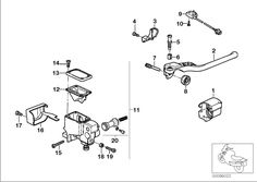 Handle unit RIGHT/SINGLE parts. Fits: BMW | BMW Motorrad USA; Part Number: 32722332037