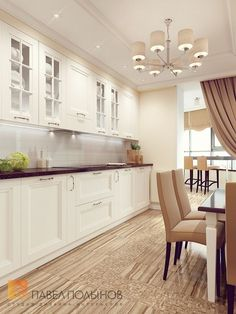 Kitchen in light beige colors - Best Interior Design Ideas Kitchen Pantry Design, Modern Kitchen Cabinets, Home Decor Kitchen, Kitchen Flooring, Kitchen Interior, Interior Design Living Room, Home Kitchens, Kitchen Sets, Cuisines Design