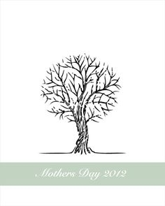 mother's day handprint tree