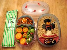 Japanese Geisha (Captured from Behind) Kyaraben Bento Lunch and Pocky!