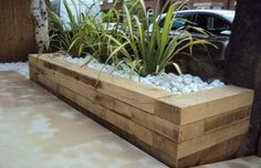 Super Backyard Garden Ideas Raised Beds Railway Sleepers 49 Ideas Super Backyard G Railway Sleepers Garden, Oak Sleepers, Raised Beds Sleepers, Fire Pit Landscaping, Fire Pit Backyard, Landscaping Ideas, Garden Landscaping, Raised Flower Beds, Raised Garden Beds