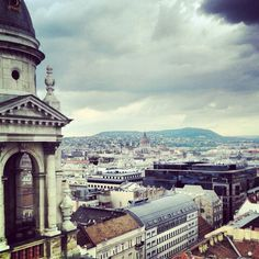 View from St. Stefan bazilic, Budapest Hungary