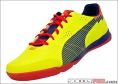 Puma evoSPEED 1 Sala Indoor Soccer Shoes - Blazing Yellow with Blue...$63.99