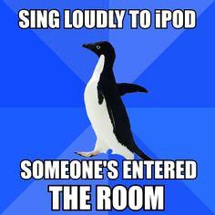 haha socially awkward penguin