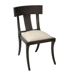 A beautiful dining chair is essential for finishing a stylish space to gather. This traditional option features dark mahogany wood with lovely curved legs and a tan seat cushion.