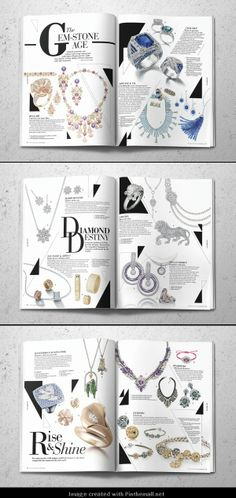 Watch & Jewellery Magazine Editorial Design... - a grouped images pin by Pinthemall.net - Pin Them All