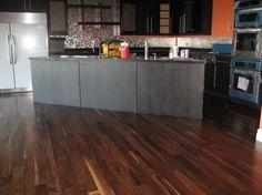 Floor Stain, closer to the color we want Walnut Wood Floors, Hardwood Floors, Flooring, Floor Stain, Dark Hardwood, Vanity Room, Home Organization, Home Remodeling, Landing