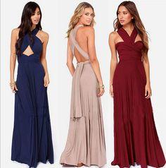Femmes Sexy Infinity multi way Wrap porter robes Convertible Wrap transformateur longues Maxi robe robes Halter / bretelles , plus la taille dans Robes de Accessoires et vêtements pour femmes sur AliExpress.com | Alibaba Group