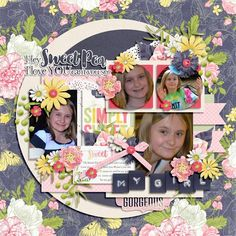 Layout using {Hello Sweet Pea} Digital Scrapbook Collection by KimB Designs available at The Digital Press http://shop.thedigitalpress.co/Hello-Sweet-Pea-The-Collection.html #kimbdesigns