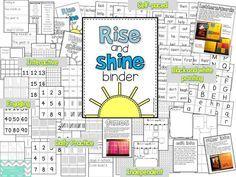 Rise and Shine Binder {instead of a calendar/Saxon Math meeting books this year...}